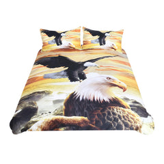 BeddingOutlet Eagles Bedding Set 3D Sea Printed Duvet Cover Double for Adults Kids Bed Cover Photography Scenic Bedclothes 3pcs