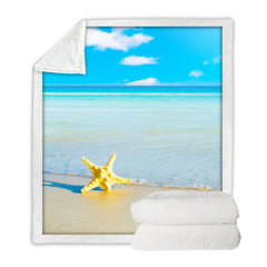 BeddingOutlet Starfish And Ocean Throw Blanket 3D Print Bedding Home Textiles Soft Sherpa Blankets