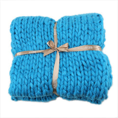 Soft Acrylic Chunky Knitted Blanket