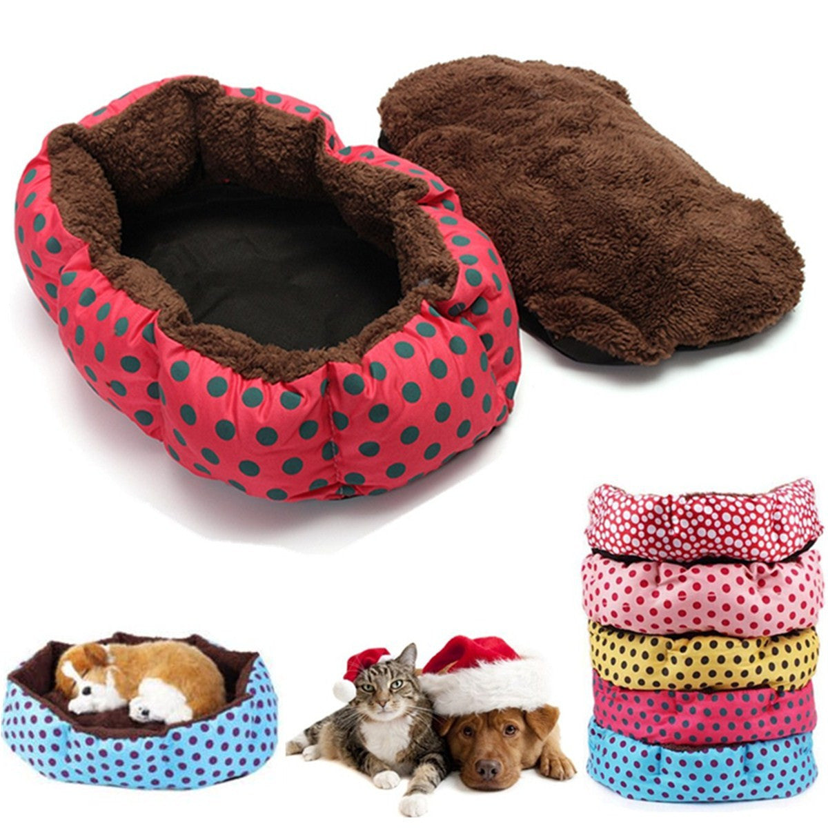 Washable Pet Cat Puppy Blanket Dog Bed Soft Nest Cushion Kennel Mat Pad Gift
