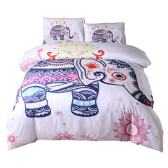 3PCS Printed  Santa Claus Comfort Bedding Sets