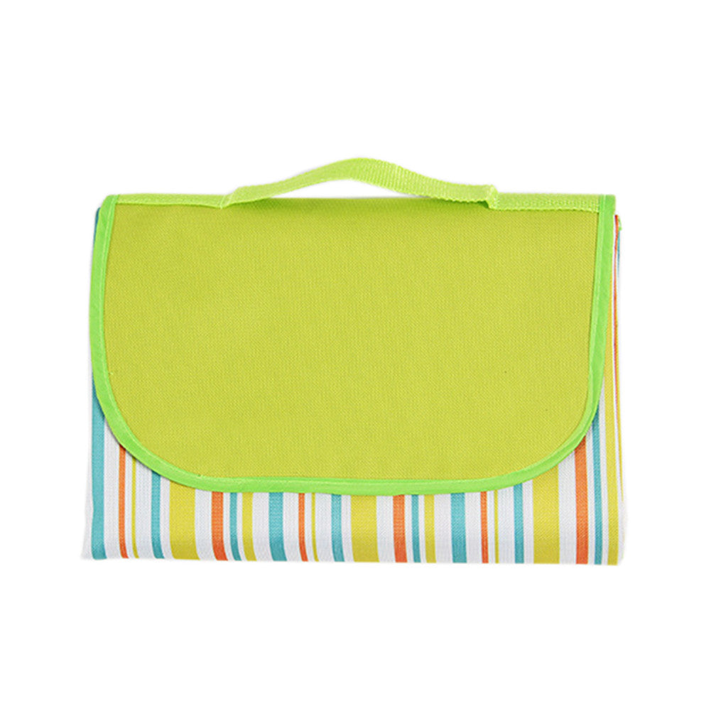 Picnic Blanket Foldable Blanket Beach Camping Outdoor Waterproof Colorful Stripes