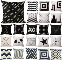 Pillow Case Black and White Pattern