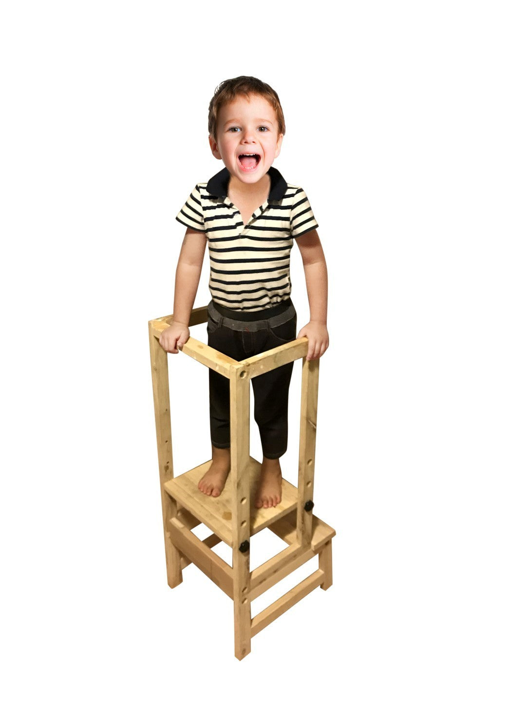 Kids DIY Learning stool with Fence