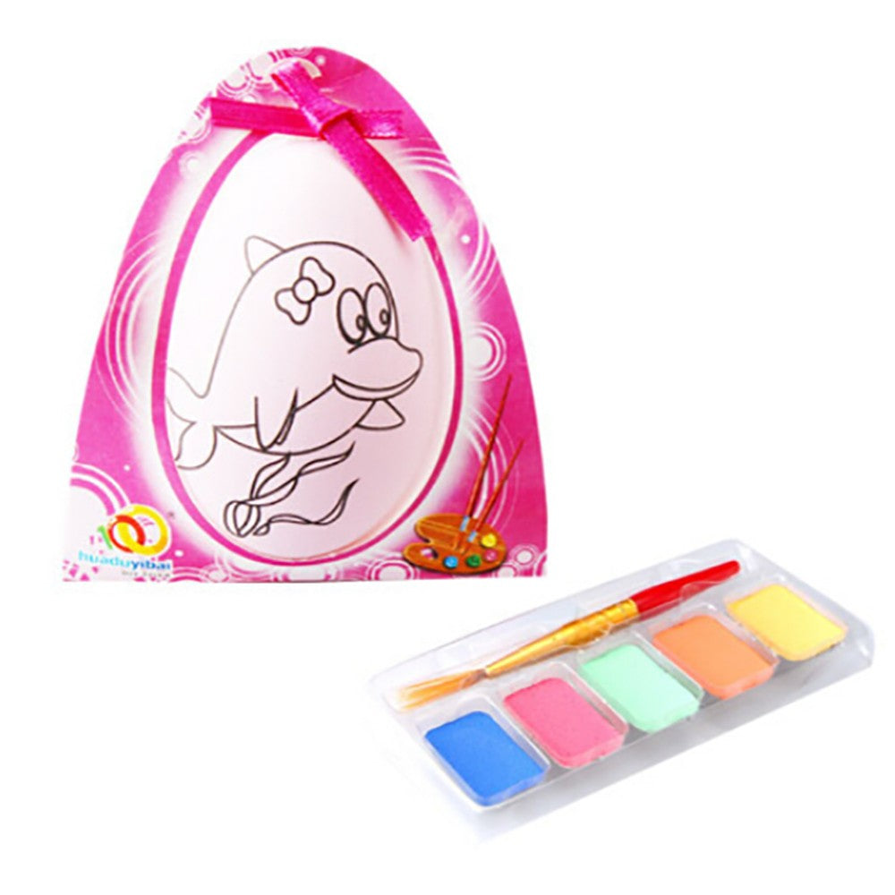Water Color Pen Egg Kids DIY Painting Color Egg Toy Easter Egg Education Toys