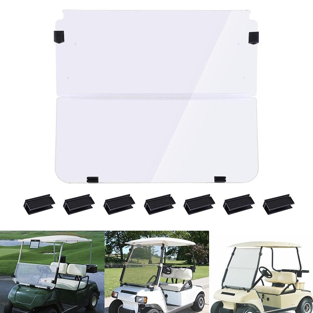 Folding Acrylic Golf Cart Windshield