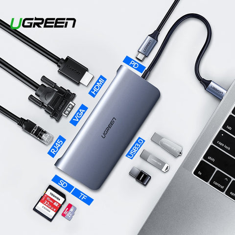 3 Dock Adapter USB Type C to 3.0 HUB HDMI Type-C Converter for MacBook