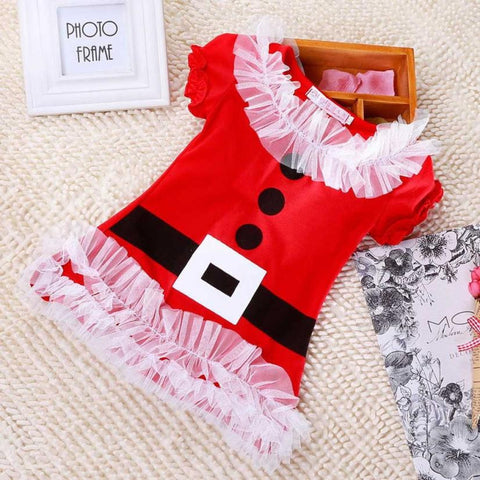 2016 new arrival kids girl dresses cotton girl children Lace Christmas Style Dress o neck cute fashion clothing high quality