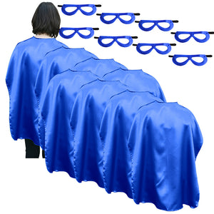 Adult Superhero Cape With Matching Mask Set Of 8