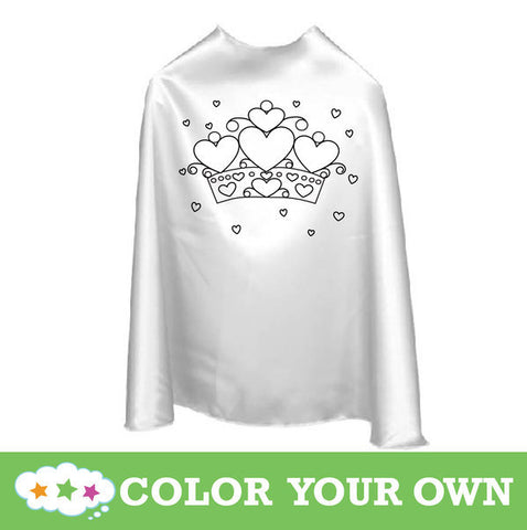 Color Your Own Superhero Cape Hearts