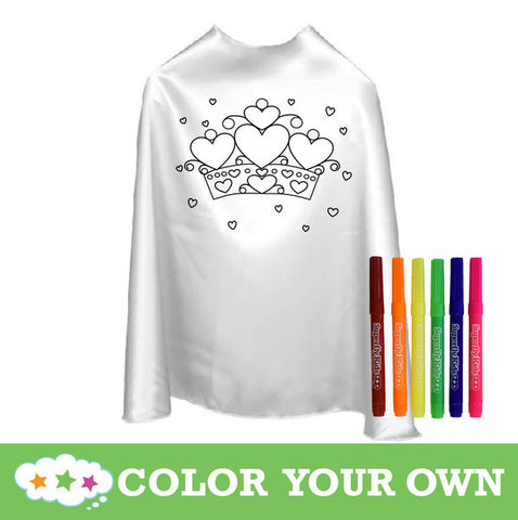 Color Your Own Superhero Cape Hearts With Markers