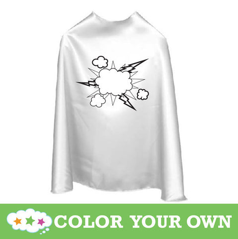 Color Your Own Superhero Cape Pow