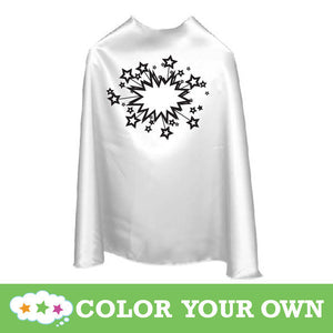 Color Your Own Superhero Cape Stars