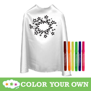 Color Your Own Superhero Cape Stars With Markers