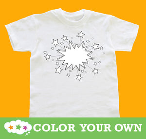 Color Your Own Shirt Stars Youth