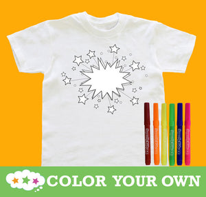 Color Your Own Shirt Stars Youth With Markers