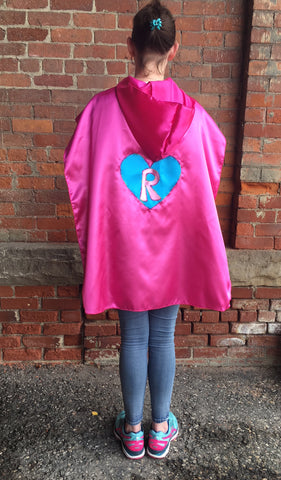 Custom Hooded Satin Superhero Cape / Cloak