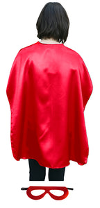 Adult Superhero Cape With Matching Mask