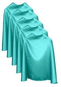 Five Aqua Bulk Superhero Capes
