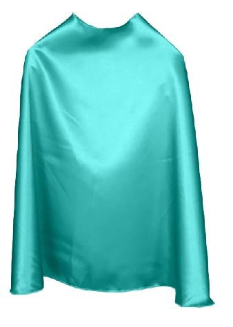 Solid Color Aqua Superhero Cape