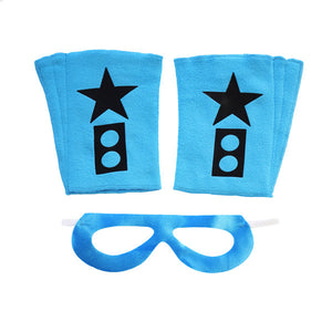 Superhero Mask And Cuffs Ocean Blue Bam