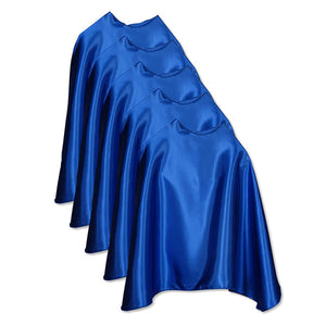 Five Blue Bulk Superhero Capes