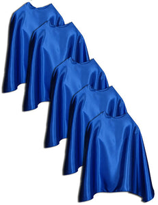 "Five Sidekick 22"" Bulk Superhero Capes - Choose Color"