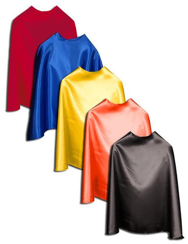 "Five Adult 48"" Bulk Superhero Capes - Choose Color"