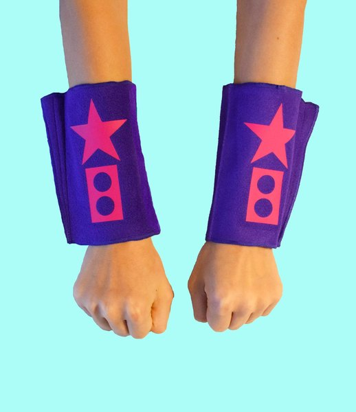 Superhero Blaster Cuffs/ Wristbands Create Your Own