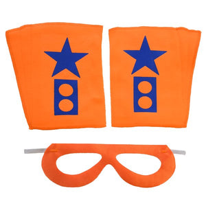 Superhero Mask And Cuffs Orange