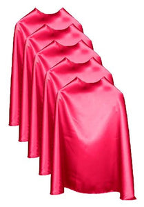 Five Fuchsia Bulk Superhero Capes