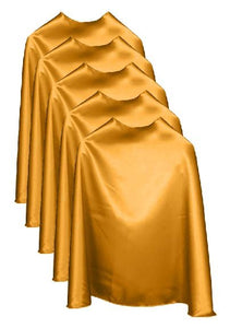 Five Gold Bulk Superhero Capes