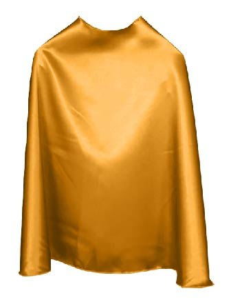 Solid Color Gold Superhero Cape