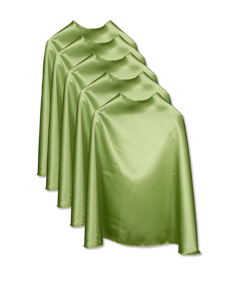 Five Lime Bulk Superhero Capes