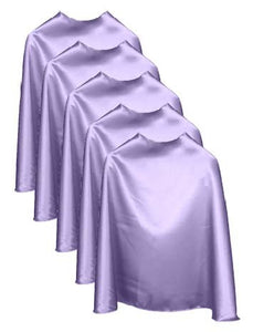 Five Light Purple Bulk Superhero Capes