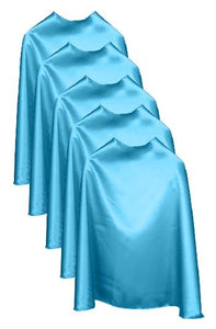 Five Ocean Blue Bulk Superhero Capes