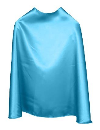 Solid Color Ocean Blue Superhero Cape