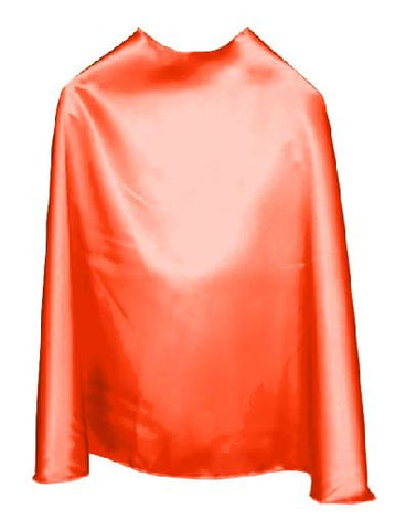 Solid Color Orange Superhero Cape