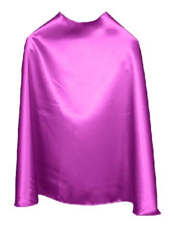 Solid Color Orchid Superhero Cape