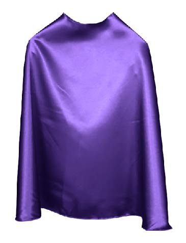 Solid Color Purple Superhero Cape
