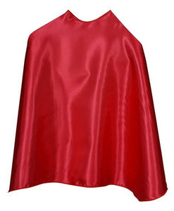 Solid Color Red Superhero Cape