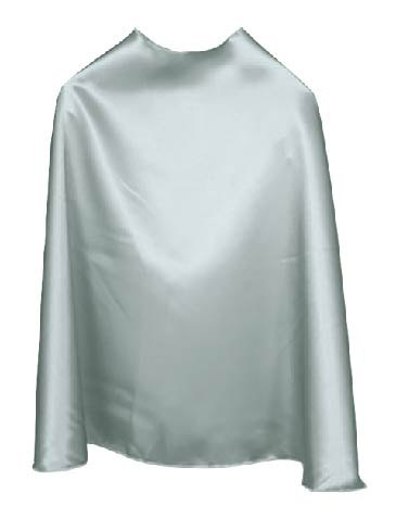 Solid Color Silver Superhero Cape
