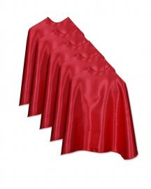 Five Red Bulk Superhero Capes