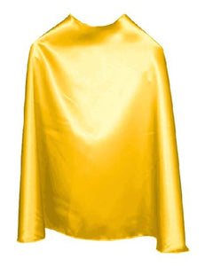 Solid Color Yellow Superhero Cape