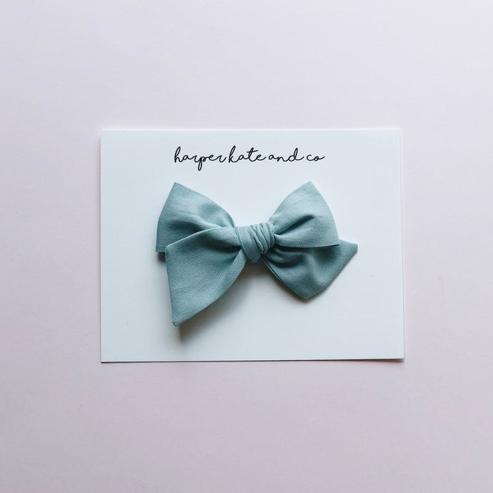 Blue Slate • Small Hattie Bow