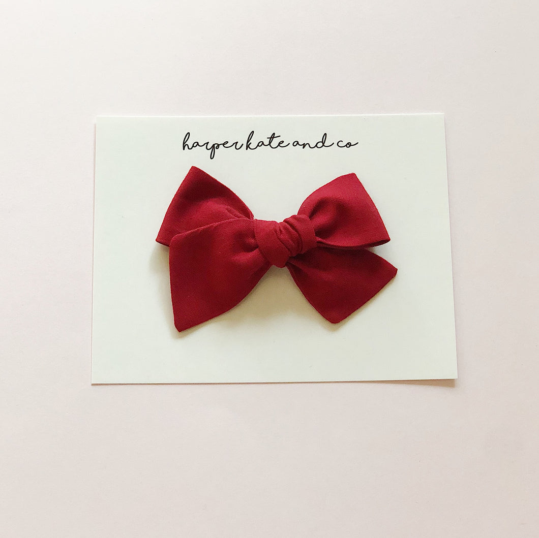 Crimson Red • Small Hattie Bow