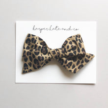 Leopard Oversized Hattie Bow