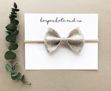 Heather Beige Kate Bow