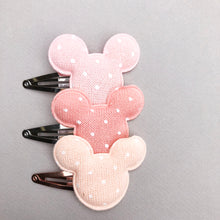 Light Pink Mouse Snap Clip Set