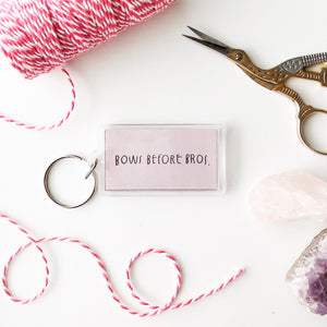 Bows Before Bros Keychain